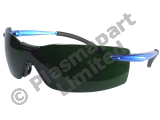 Blue-Armed Wrap Around Spectacles (Anti-Fog) - Shade 5 PP20146